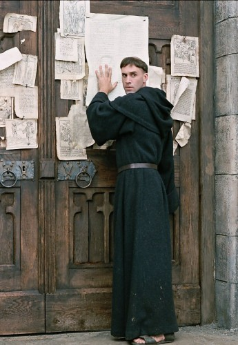 Luther nails the 95 Theses, but not the Solas in this film