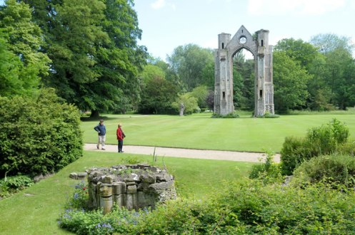 The ruins of the medieval abbey at Walsingham