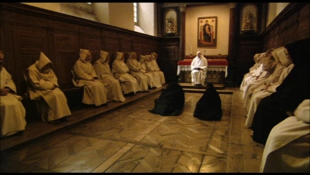 Two novices entering the Carthusian order at the Grande Chartreuse