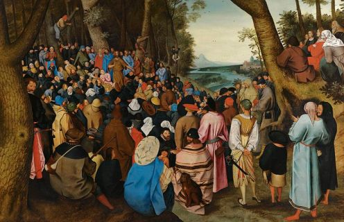 sermon of st. john the-baptist_bruegel the elder